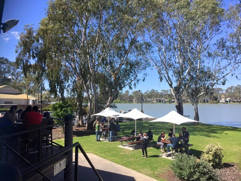 Dining on the banks of the Murray River