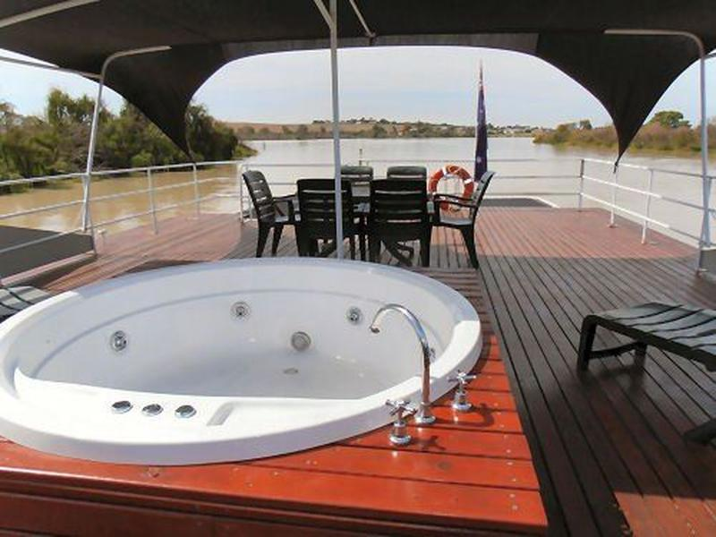 shaded top deck spa