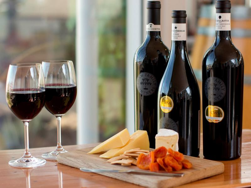 WINE & CHEESE PLATTERS AT GOOLWA CELLAR DOOR
