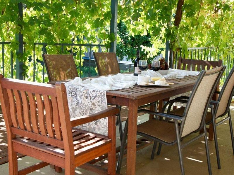 Vine covered deck - the perfect spot for wining and dining