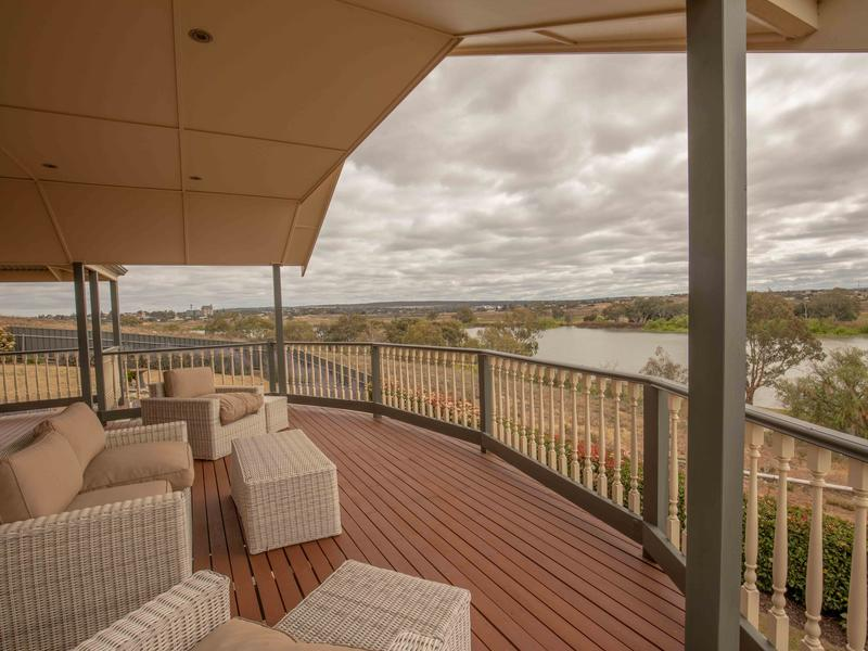 Large decking with river views