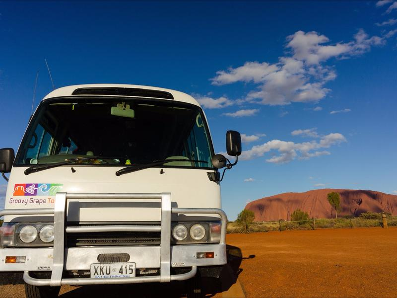 Groovy Grape Tours bus in Uluru