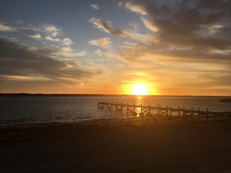 Beautiful Sunset at Sugar Beach Jetty, Himdmarsh Island