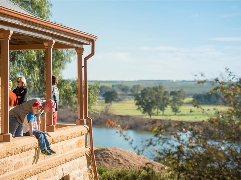 Spectacular views of the Murray River from the Historic Round House